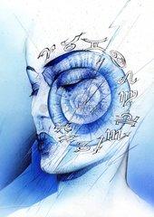 Frauenportrait Horoskopzeichen Astrologin Spiritualit_t Esoterik