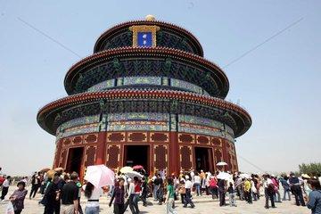 China  Peking: Renovierung der Gebetshalle des Himmelstempels