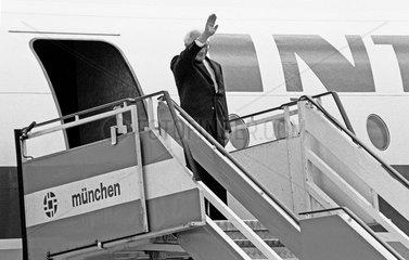 Erich Honecker  Abschied von der Bundesrepublik  Muenchen  1987