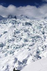 Eisbrueche des Geant-Gletschers  Frankreich