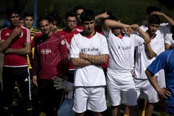 Fussballturnier  Fluechtlinge Afghanistan