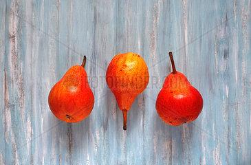 Three organic pears