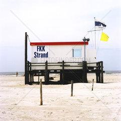 Strandhaeuschen FKK Strand