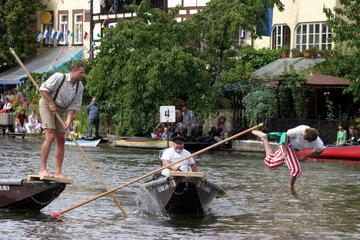 Bamberg  Fischerstechen auf der Regnitz