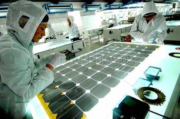 China. Solarzellen-Produktion