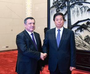 CHINA-BEIJING-LI ZHANSHU-UZBEKISTAN-PARLIAMENT-SPEAKER-TALKS (CN)