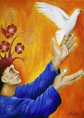 Friedenstaube Taube Friede Freiheit Fliegen Vogel