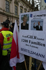 Demo gegen Schliessung Prinovis Itzehoe