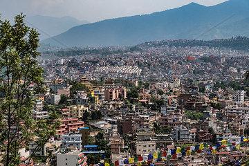 Blick ueber Kathmandu