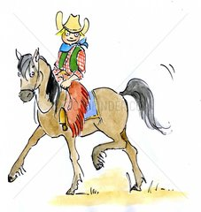 Cowboy reitend