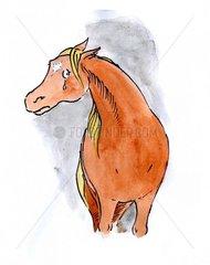 Trauriges Pferd