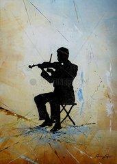 Geigenspieler Musiker Geiger Geige Violine Orchester Musikant Serie