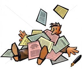Formularflut Formulare Papierkrieg