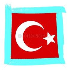 Symbol Tuerkei 6 Fahne Flagge