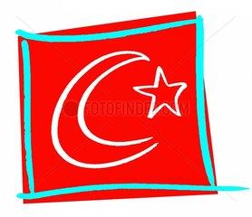 Symbol Tuerkei 3 Fahne Flagge
