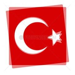 Symbol Tuerkei 2 Fahne Flagge