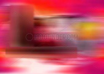 Hintergrund verzerrt pink rot Schnell Geschwindigkeit