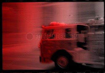 Serie Amerika Feuerwehrwagen Geschwindigkeit Eile