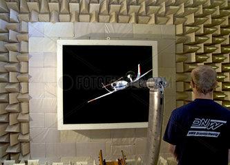 Zukunftsflugzeug ALNA im Windkanal