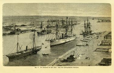 Suezkanal bei Port Said  1885