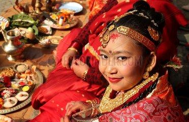 NEPAL-KATHMANDU-CULTURE-BEL BIBAHA CEREMONY