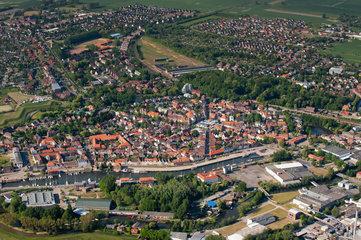 Glueckstadt  Deutschland  Luftbild Kreis Steinburg