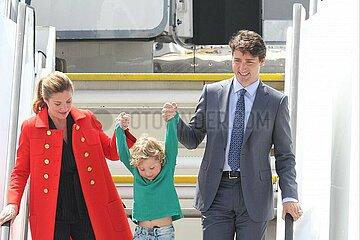 Justin Trudeau mit Ehefrau Sophie Gregoire