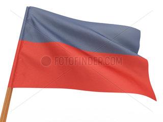 flag fluttering in the wind. Haiti. 3d