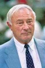 Georg Leber  SPD  Politiker  1987