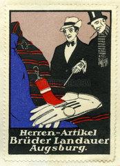 Herrenmode  Kaufhaus Brueder Landauer  Augsburg  1913