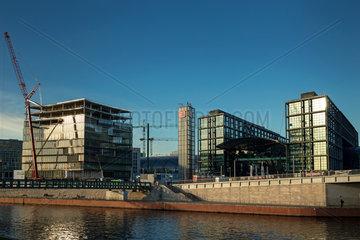 Berlin  Deutschland - Hauptbahnhof Berlin und Neubau.