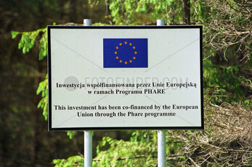 EU-Informationsschild   Polen