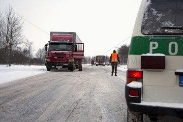 Verkehrsunfall im Winter
