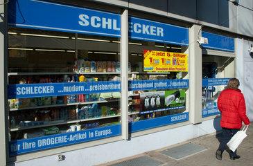 Berlin  Deutschland  eine Filiale der Drogeriekette Schlecker