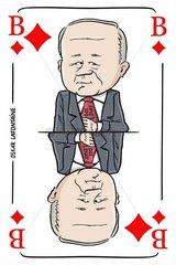 Serie Kartenspiel Karobube Oskar Lafontaine