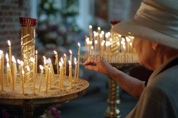 Andacht in der Christus-Erloeserkirche in Kaliningrad  Russland