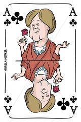 Serie Kartenspiel Kreuzas Angela Merkel