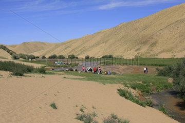 Fluss Khungiy Gol in der Mongolei