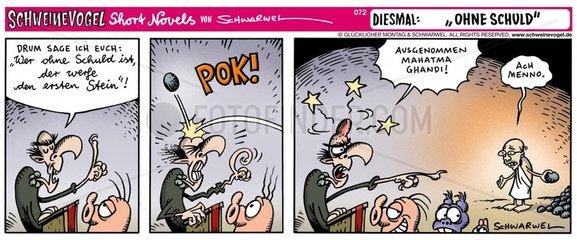 Serie Comicstrip Schuld Stein
