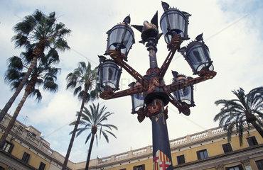 Strassenlaternen von Antonio Gaudi in Barcelona