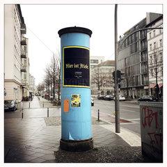 Litfasssaeulen Berlin verschwinden