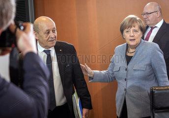 Le Drian + Merkel + Altmaier