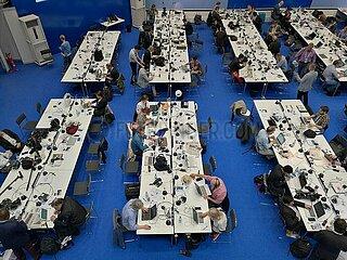 Pressezentrum bei G20-Gipfel