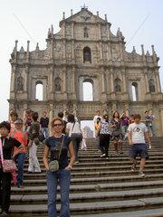 Fassade der Pauluskirche in Macau
