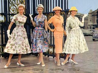elegante Damenmode  1956