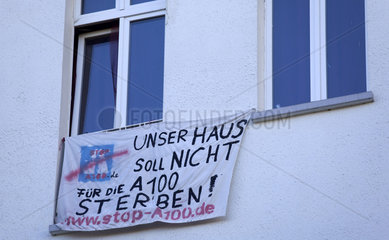 Protest gegen A100