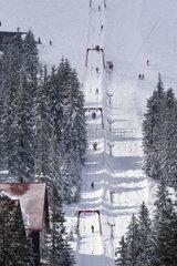 Skigebiet in den Ukrainischen Ostkarpaten