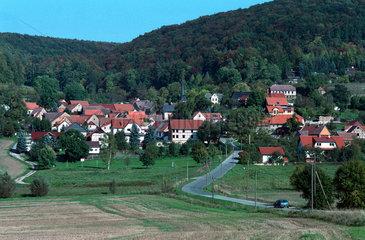 Saalborn  ein Dorf im Thueringer Wald