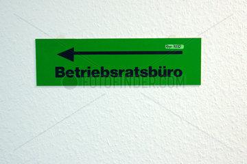 Berlin  Betriebsratsbuero Schild