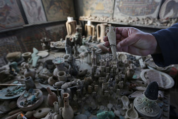 MIDEAST-GAZA-ARCHEOLOGIST